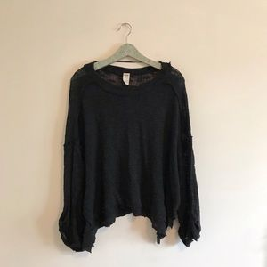 Free People | Island Girl Hacci Top Black